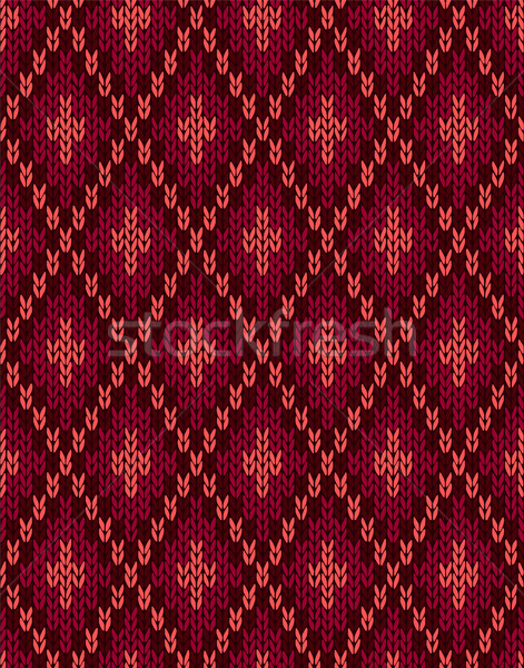 Seamless Knitwear Textile Pattern Stock photo © ESSL