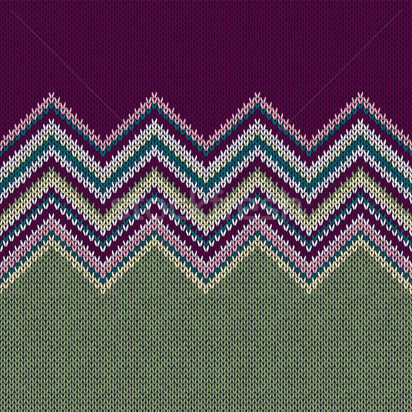 Ethniques géométrique tricoté modèle violette Photo stock © ESSL