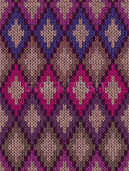 Knit woolen seamless jacquard ornament texture Stock photo © ESSL