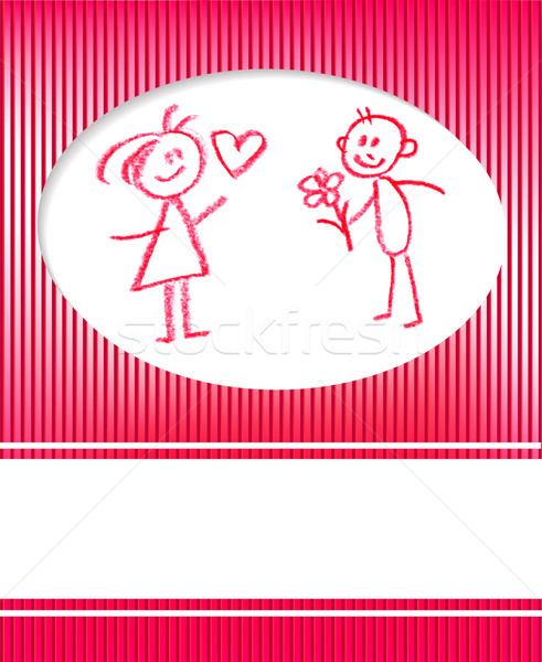 Homme femme félicitation amour fleur Photo stock © ESSL