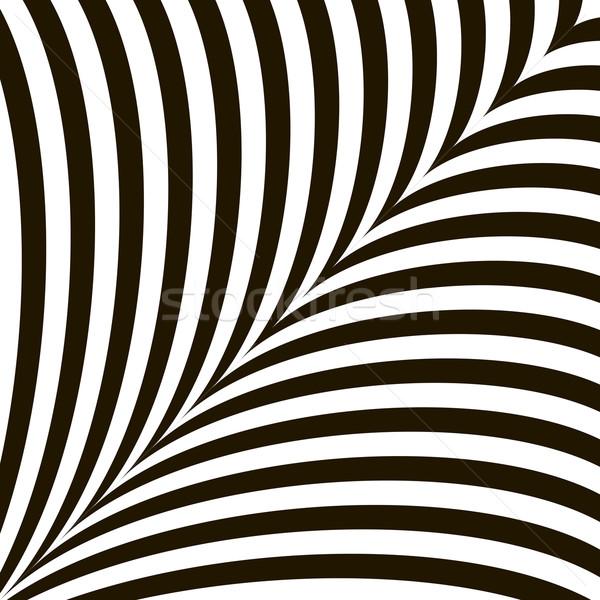 Czarno białe geometryczny wektora złudzenie optyczne nowoczesne efekt Zdjęcia stock © ESSL