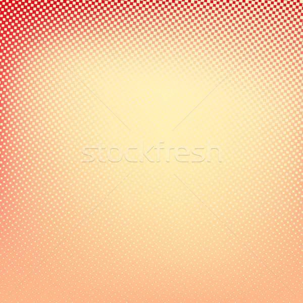 Medios tonos rojo amarillo color cuadrados forma Foto stock © ESSL