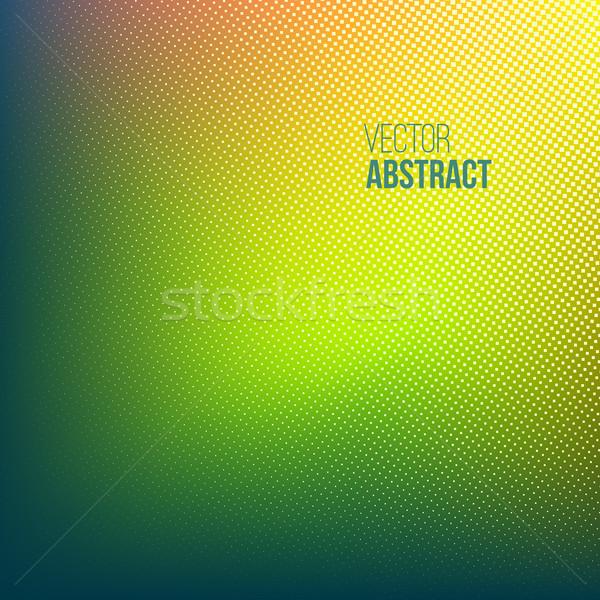 Meio-tom verde abstrato padrão amarelo laranja Foto stock © ESSL