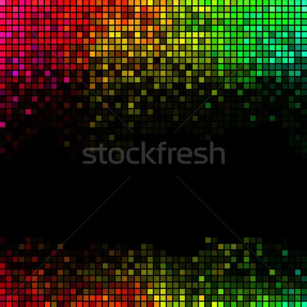 Abstract luci discoteca piazza pixel mosaico Foto d'archivio © ESSL