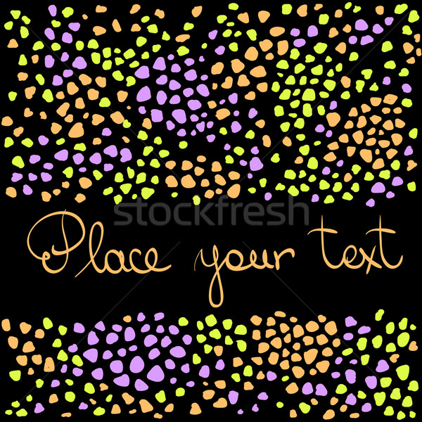 Abstract pattern with frame and text Stock photo © ESSL