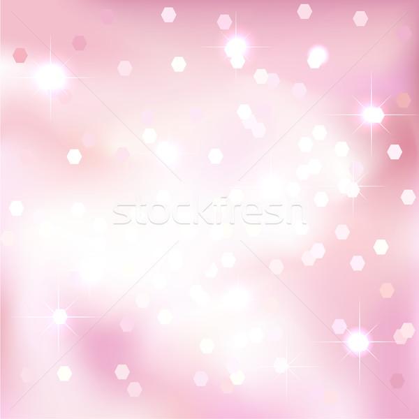 Bright light pink background. Festive design. New Year, Christmas, wedding, event style. Stock photo © ESSL