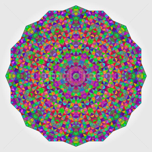 カラフル サークル 万華鏡 背景 モザイク 抽象的な ストックフォト © ESSL