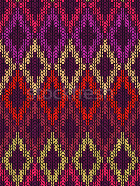 Seamless Female Knitting and Embroidery Ornamental Patter Stock photo © ESSL