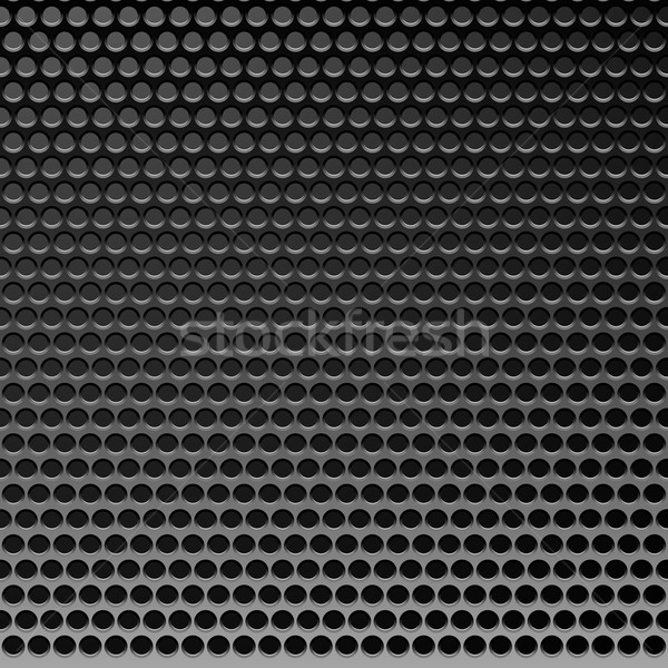 Perforated Metal Template. Translucent Grid Background Stock photo © ESSL