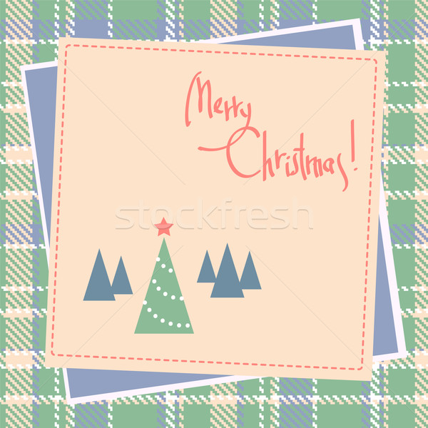 Natale scrapbook design albero sfondo inverno Foto d'archivio © ESSL