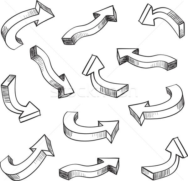 3D flèche design Photo stock © ESSL