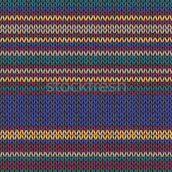 Seamless Ethnic Color Striped Knitted Pattern Stock photo © ESSL