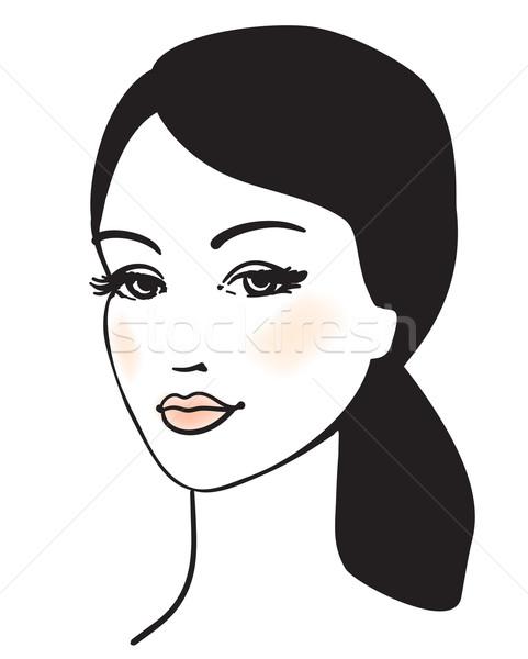 beauty girl face vector portrait  Stock photo © ESSL