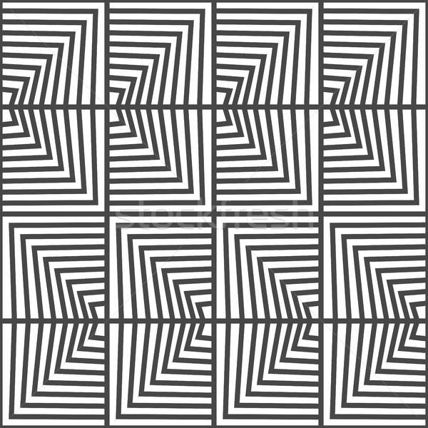 Sem costura geométrico vetor padrão preto e branco cor Foto stock © ESSL