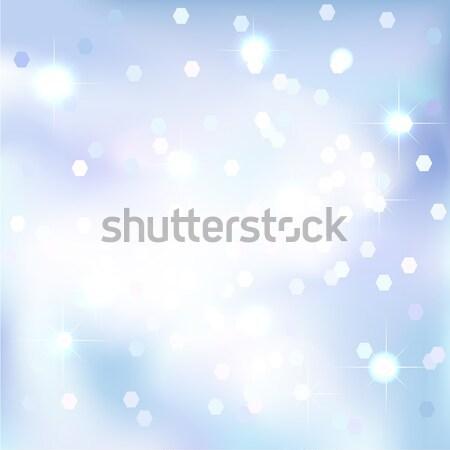 Absztrakt kék ég varázslatos új év karácsony esemény Stock fotó © ESSL