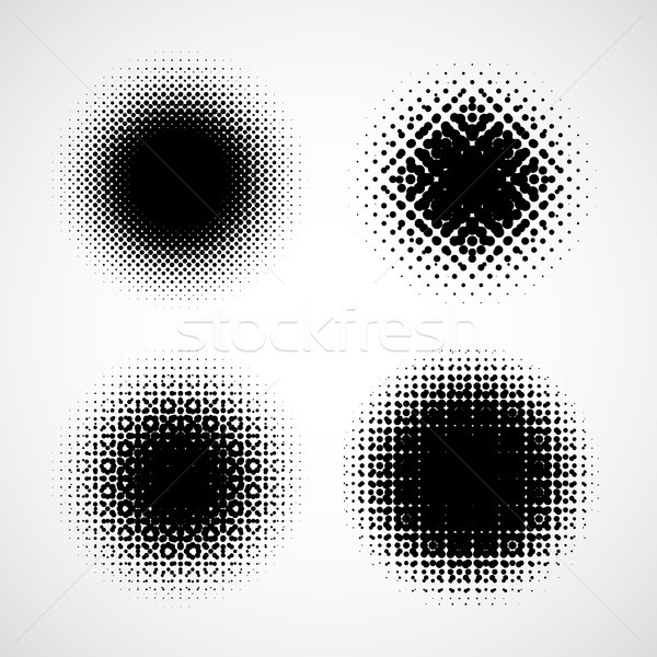 Abstract Halftone Backgrounds. Vector Set of Isolated Modern Design Element Stock photo © ESSL