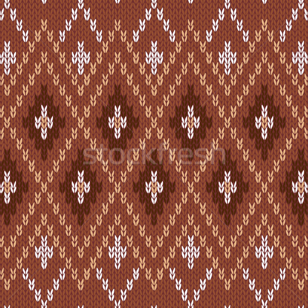 Seamless Knitwear Pattern Stock photo © ESSL