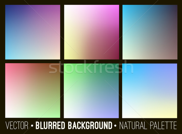 Blurred abstract backgrounds set. Smooth template design for creative decor web banners and mobile i Stock photo © ESSL