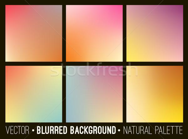Colorido gradiente abstrato fundos conjunto modelo Foto stock © ESSL