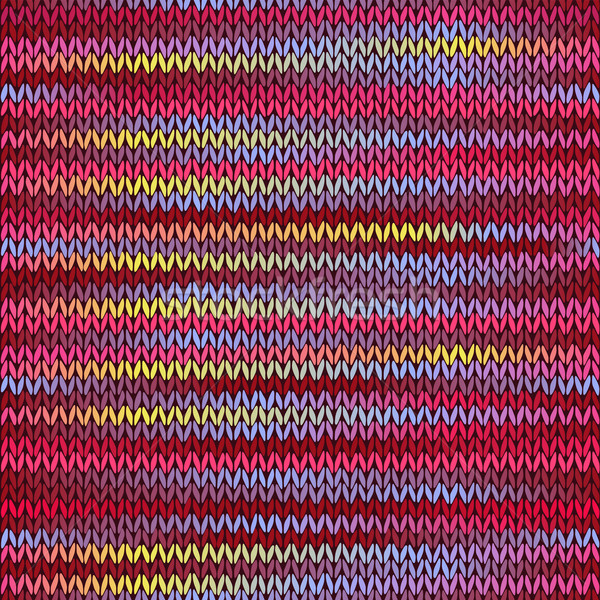 Style Seamless Knitted Melange Pattern. Red Blue Yellow Pink Col Stock photo © ESSL
