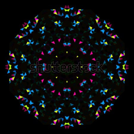 Resumen geométrico brillante caleidoscopio patrón círculo Foto stock © ESSL