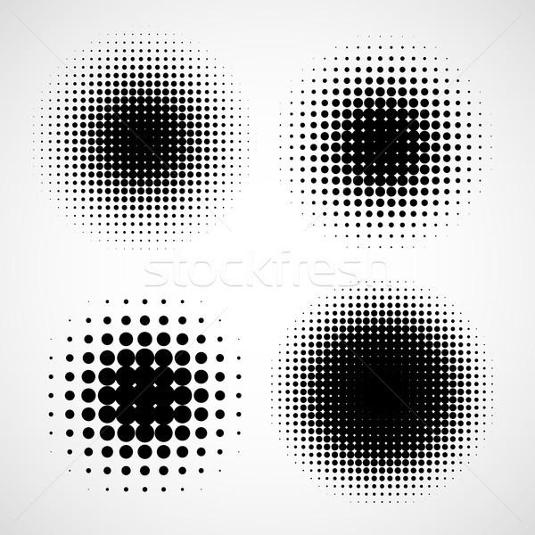 Abstract halftoon achtergronden vector ingesteld geïsoleerd Stockfoto © ESSL