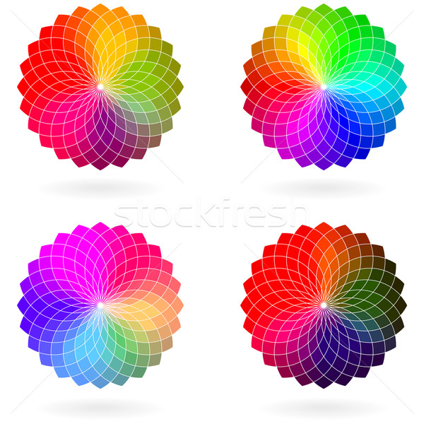 Color flower vector wheel, set Stock photo © ESSL