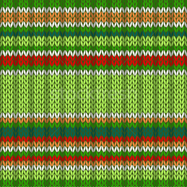 Knit Woolen Seamless Jacquard Ornament Texture. Fabric Color Bac Stock photo © ESSL