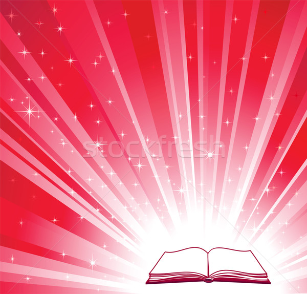 Open book and red bright background  Stock photo © ESSL