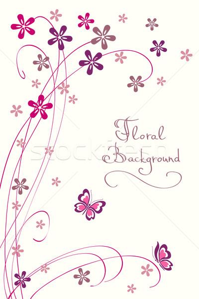 Cute floral modernes vecteur carte différent Photo stock © ESSL