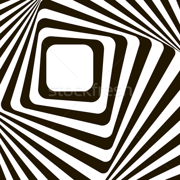 Abstract lines distortion effect. Black and white optical illusi Stock photo © ESSL