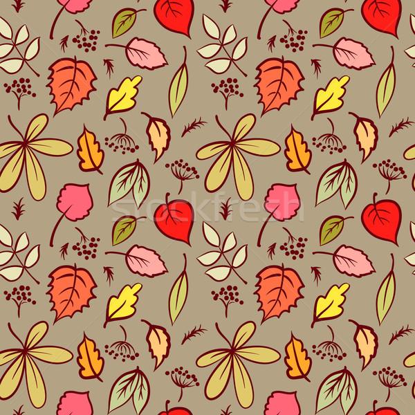 Beautifu Seamless Pattern with Autumn Leaf, Abstract leaf Textur Stock photo © ESSL