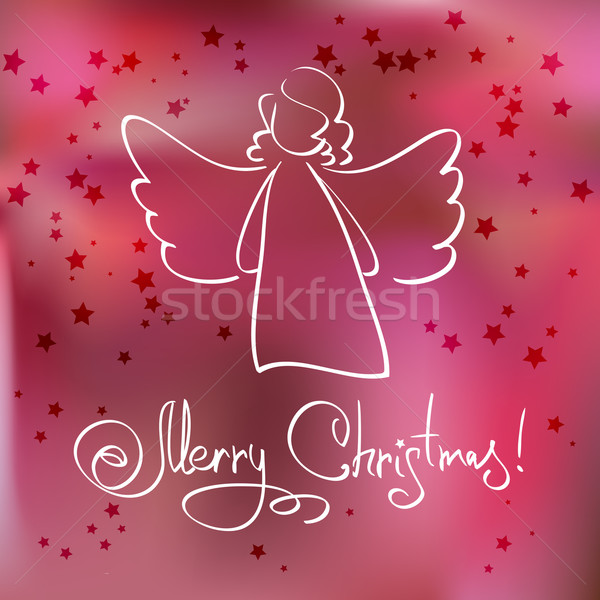 Christmas Card with Angel Stock photo © ESSL