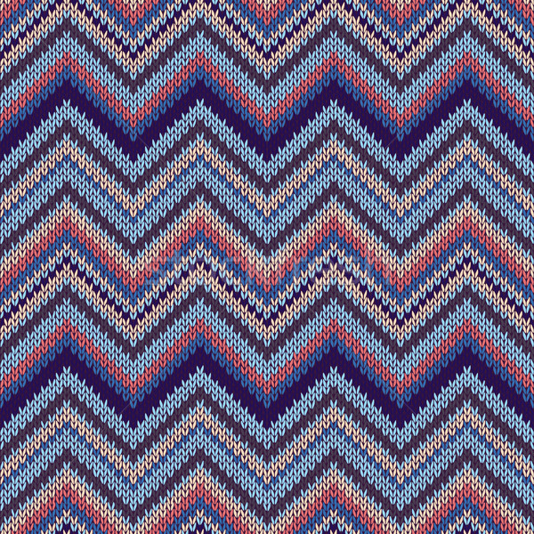 Stock photo: Fashion Fabric Color Swatch. Style Seamless Textile Knitted Patt