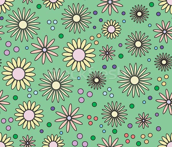 Senza soluzione di continuità fiore abstract floreale come radura Foto d'archivio © ESSL