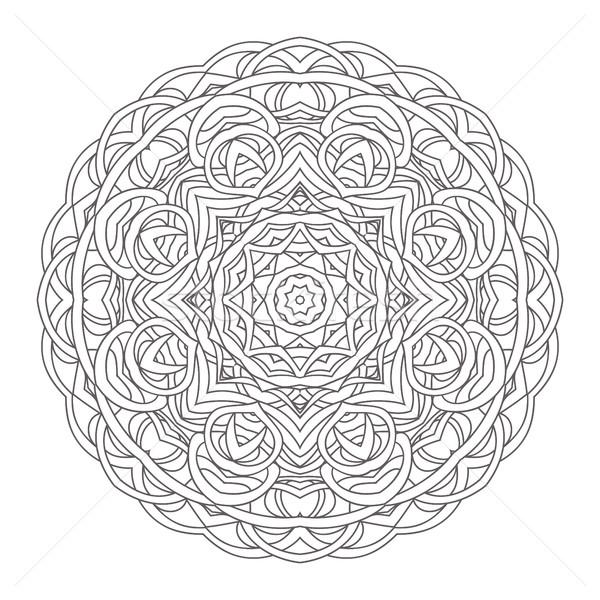 Mandala vintage dibujado a mano decorativo encaje diseno Foto stock © ESSL