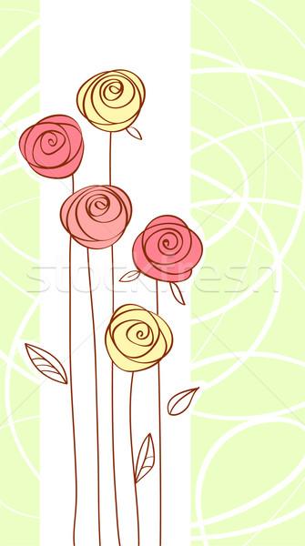 Tarjeta de felicitación rojo color aumentó flor fiesta Foto stock © ESSL