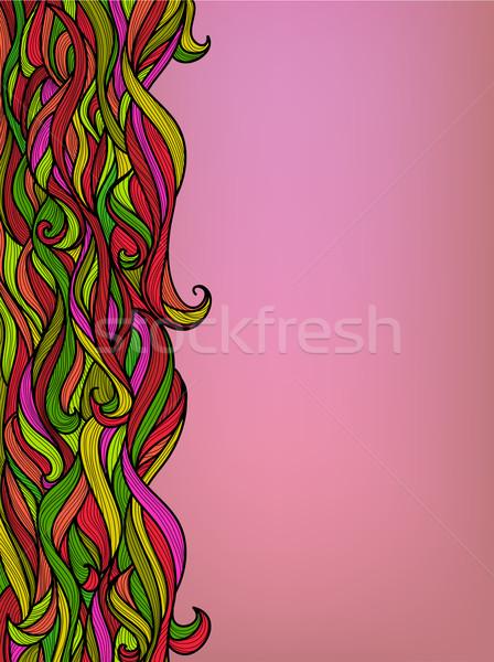 Resumen floral olas hermosa vector colorido Foto stock © ESSL