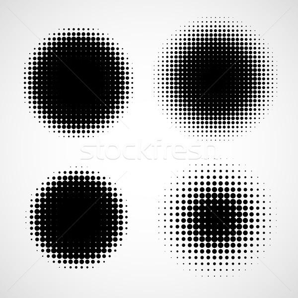 аннотация полутоновой фоны вектора набор изолированный Сток-фото © ESSL