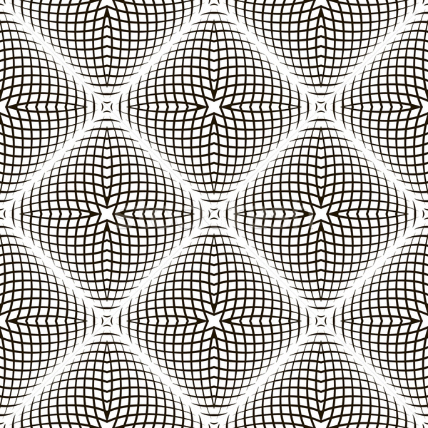 Black and White Geometric Vector Shimmering Optical Illusion. Mo Stock photo © ESSL