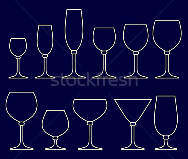 набор очки напитки дизайна стекла оранжевый Сток-фото © ESSL