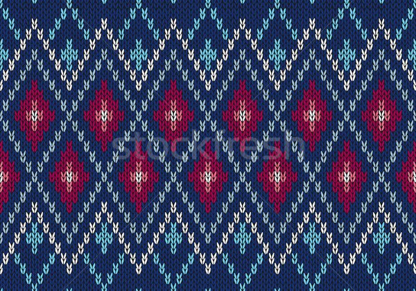 Seamless Ornamental Male Style Knitted Vector Pattern  Stock photo © ESSL
