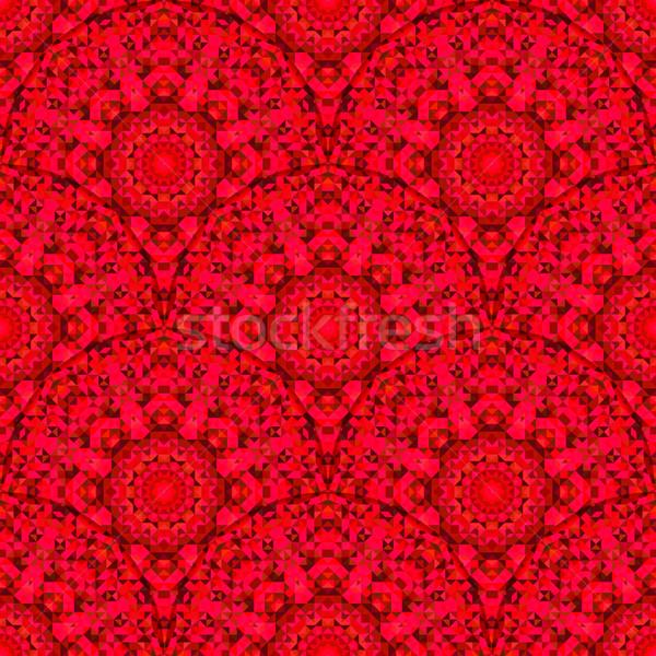 Abstrato sem costura vermelho geométrico vetor padrão Foto stock © ESSL