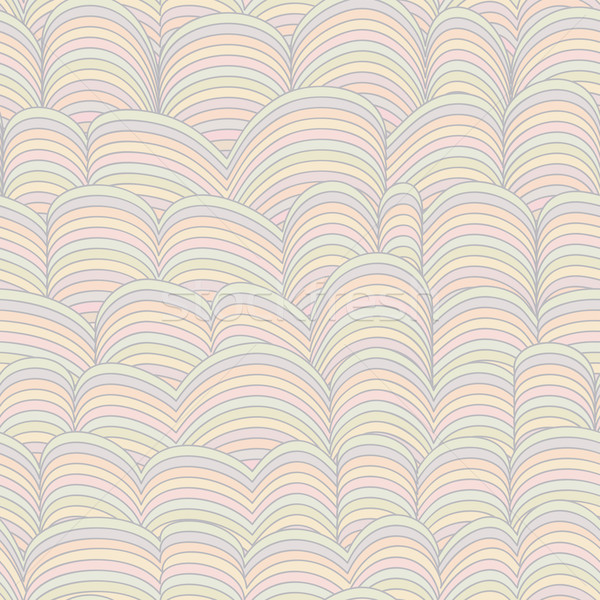Colorful Seamless Abstract Hand-drawn Pattern, Waves Background  Stock photo © ESSL