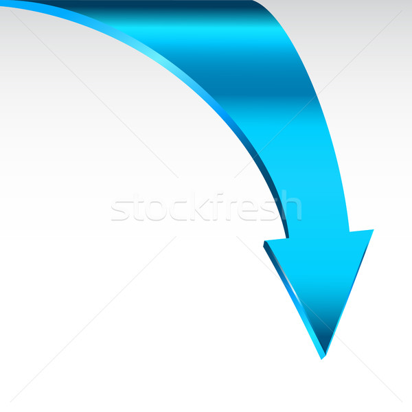 Blue arrow and neutral white background. Stock photo © ESSL