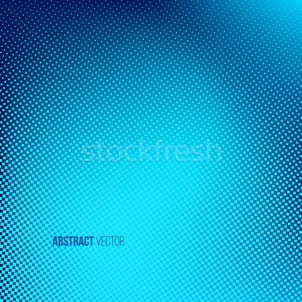 Blu abstract mezzitoni creativo punteggiata vettore Foto d'archivio © ESSL