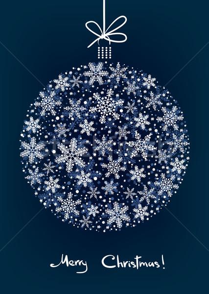 Christmas Background with White Snowflakes Ball Stock photo © ESSL