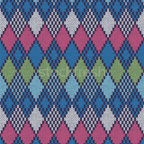 Ethnic Style Seamless Knitted Pattern Stock photo © ESSL