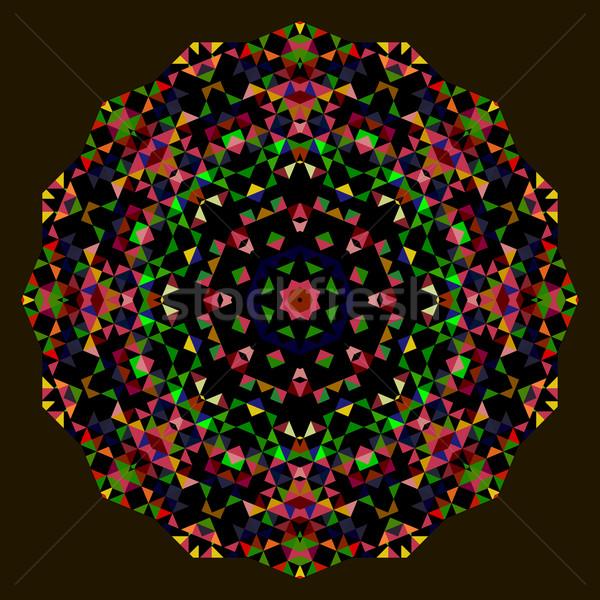 Abstract creatieve kleurrijk stijl vector wiel Stockfoto © ESSL