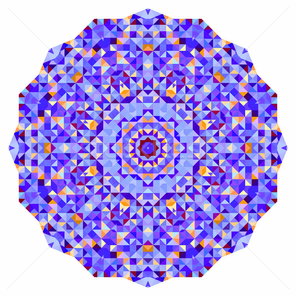 Résumé coloré cercle fond mosaïque bannière Photo stock © ESSL